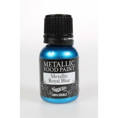 Sinine (Metallic royal blue) , metallikläikega värv, 25ml