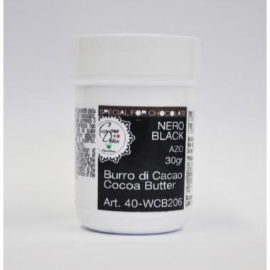 Kakaovõivärv - must, Martellato, 30g