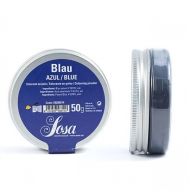 "Sinine pulbervärv ""Azul Blue"" 50g, SOSA"