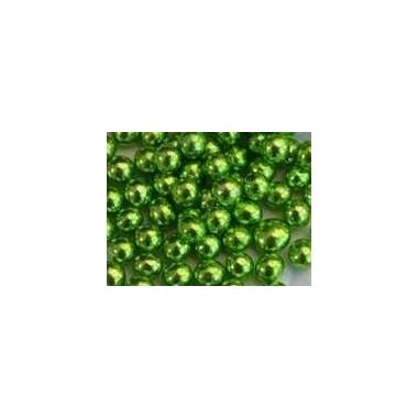 Rohelised (söödavad) metallikläikega pärlid, 5mm/ 50g pk