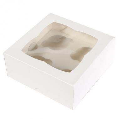 Valge muffinikarp 4le muffinile