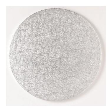 Ümmargune tordialus, 35,5x1,3cm, hõbedane
