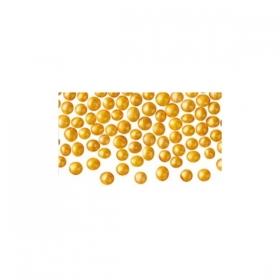 Kuldsed pehmed pärlid (pärlmutter), söödavad, 4-5mm, 50g