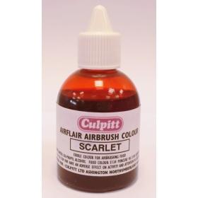 Punane (scarlet), värvipritsi värv, 60ml, Culpitt