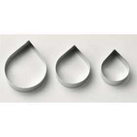 Roosi kroonlehe lõikevormid XL suurus, 3 tk kmpl, metall, Culpitt
