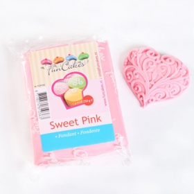 Heleroosa suhkrumass (sweet pink), 250g, Fun Cakes
