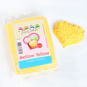 Kollane suhkrumass (mellow yellow), 250g, FunCakes
