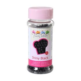 Mustad läikivad suhkrupärlid 80g - FunCakes