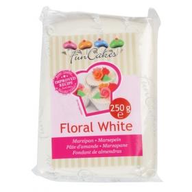Lumivalge martsipan (floral white) 250g - FunCakes