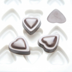 Tugev kvaliteetne pralineevorm- südamed 24tk