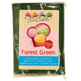 Tumeroheline suhkrumass (forest green), 250g, FunCakes
