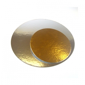 Kuldne/hõbedane tordipapp, ümar, 24cm