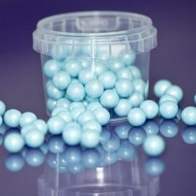 Sinised pärlmutter šokolaadipärlid, läbimõõt 10mm, Edibles, 80g