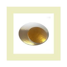 Kuldne/hõbedane 1mm õhuke tordipapp, ümar 30cm