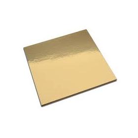 Kuld/hõbedane 1mm kandiline tordipapp, 21x21cm