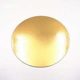 Kuld/hõbedane 1mm ümmargune tordipapp, 22cm