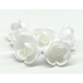 Vahvlilill - väike valge roos, 5tk