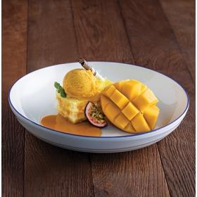 Kranfil's Passionfruit Mango - kasutusvalmis granadilli- ja mangomaitseline täidis küpsisetükkidega 200g, BRAUN