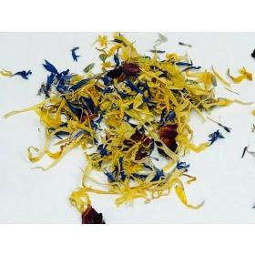 Kuivatatud lillede kroonlehtede mix (rukkilill, saialill, roos, lavendel, jasmiin) 5g, SOSA