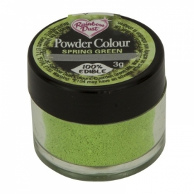 Kevadroheline pulbervärv (spring green), 3g Rainbow Dust