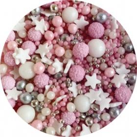 Puiste roosa,hõbe, valge 20 G