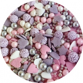 Puiste mix lilla,roosa,valge,hõbe 20G