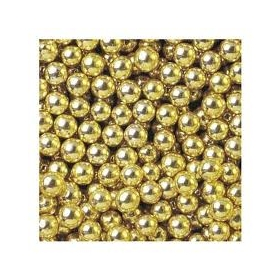 Kuldsed metallikläikega (söödavad) pärlid, 5mm/ 50g pk