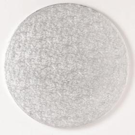 Ümmargune tordialus, 33x1,3cm, hõbedane