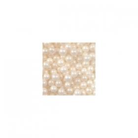 Naturaalvalged pärlid (pärlmutter), söödavad, 4-5mm, 50g
