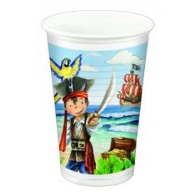 Plastist joogitopsid 10tk, 200ml -Kapten Jack