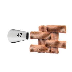 Korvi punumine, ribad, lipsud; otsak nr 47, Wilton