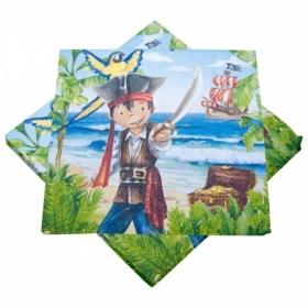 Piraadi teemalised salvrätid, 20tk - Kapten Jack