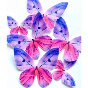 Liblikas - lilla varjundiga vahvlikaunistus, 20tk