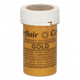Kuldne pastavärv (gold) 25g, Sugarflair