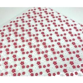 """Šokolaadi mustrikile """"Roosad ja valged lilled"""" 30x40cm"""