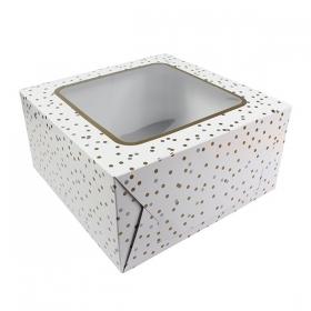 Täpikestega tordikarp, 25,4x12,7cm