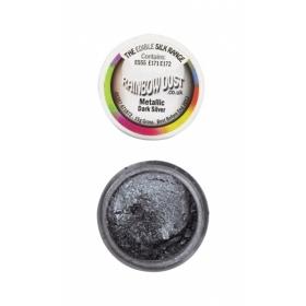 Metallikhõbedane (tume) pulbervärv (metallic dark silver) 3g, Rainbow Dust