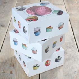 Muffinikarp 4le muffinile, 17x17x8cm, FunCakes
