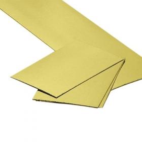Kuld/hõbedane 1mm kandiline tordipapp, 10x15cm