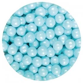 Sinised pärlmutterpärlid 7mm, 90g Purple Cupcakes