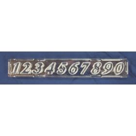 Numbrid, kaldkirjas, clikstix meetodil, 25mm