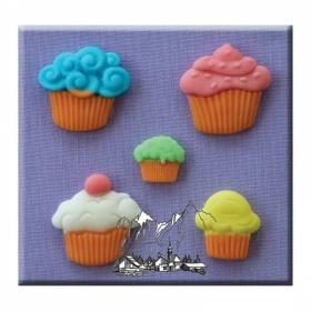 Muffinid, silikoonvorm, Alphabet Moulds