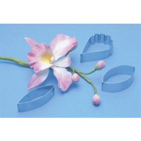 Cattleya orhidee metallvormid, 3tk, PME