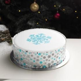 Lumehelbe šabloon, Cake Star