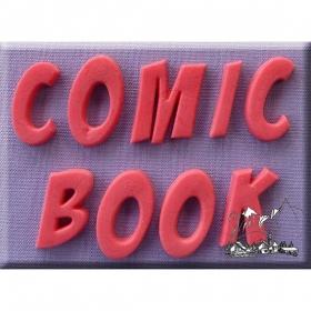 Koomiksistiilis tähed, silikoonvorm, Alphabet Moulds