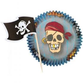 """Muffinite vormid ja lipukesed """"Piraat"""", 24tk, Wilton"""