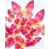 Roosa liblikas - vahvlikaunistus, 20tk
