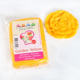 Kollane martsipan (golden yellow), 250g, Funcakes
